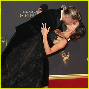 Derek Hough Professes Love for Girlfriend Hayley Erbert at Creative Arts Emmys 2017