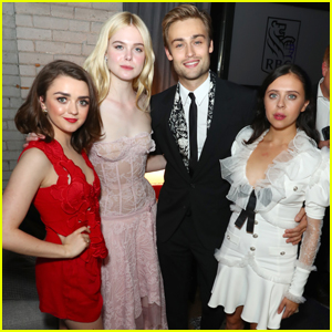 Elle Fanning & Maisie Williams Join Co-Star Douglas Booth at TIFF's HFPA Party