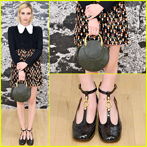 Emma Roberts Displays Her Elegant Style at Chloe x Moca Dinner