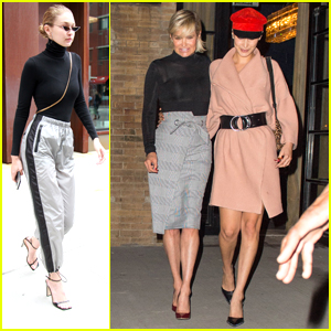 Gigi & Bella Hadid Support Mom Yolanda At Her Book Signing
