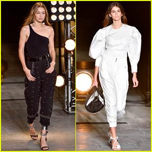 Gigi Hadid & Kaia Gerber Slay the Catwalk During Paris Fashion Week