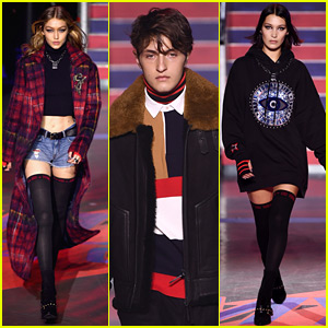 Gigi, Anwar, & Bella Hadid Walk in TOMMYNOW Show in London!