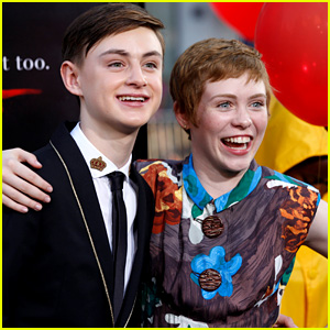 Jaeden Lieberher & Sophia Lillis Are the Cutest Co-Stars at 'It' Premiere!