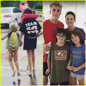 Jake Paul Meets the Fan Who Escaped Hurricane Harvey in a Team 10 Shirt