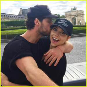 Jenna Johnson & Boyfriend Val Chmerkovskiy Share Throwback Pics of Paris Days Apart