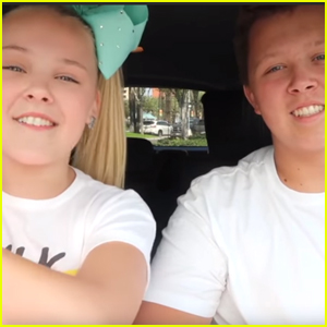 JoJo Siwa Films Her Own Carpool Karaoke With Brother Jayden - Watch!