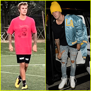 Justin Bieber Dons UCLA Gear Before Heading to Soccer Game