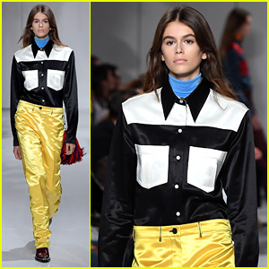 Kaia Gerber Walks Calvin Klein Runway, Her First Ever Show!
