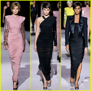 Gigi Hadid, Kendall Jenner & Joan Smalls Look Fierce While Walking for Tom Ford on the Runway - See the Pics!