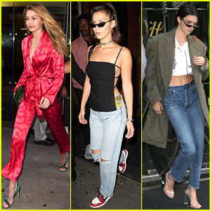 Gigi & Bella Hadid Join Kendall Jenner for NYFW Meetings