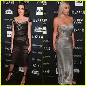 Kendall Jenner Heads to 'Harper's Bazaar' Icons Party With Kim Kardashian