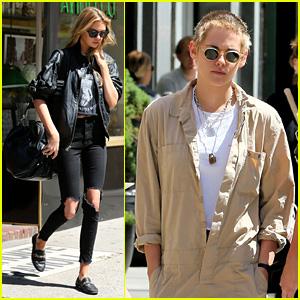 Kristen Stewart Wears Locks Around Her Neck While Out With Stella Maxwell