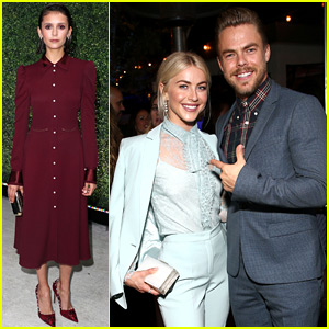 Nina Dobrev Hangs Out with BFFs Julianne & Derek Hough at Pre-Emmys Party!