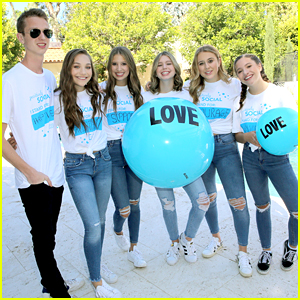 Maddie & Mackenzie Ziegler Support Positively Social Launch in Los Angeles