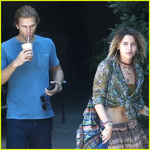 Keegan Allen Grabs Coffee with Friend Paris Jackson