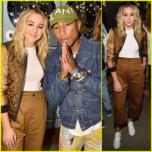 Chloe Lukasiak Hangs With Pharrell Williams at G-Star Raw NYFW Event!
