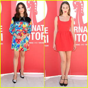Rowan Blanchard & Alycia Debnam-Carey Travel to Venice for 'Miu Miu Women's Tales'