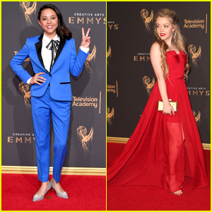 Breanna Yde Sparkles in Silver Heels at Creative Arts Emmys 2017 with 'School of Rock' Cast