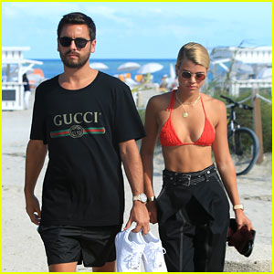 Scott Disick & Sofia Richie Soak Up the Sun Together at the Beach in Miami!