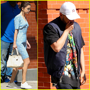 Selena Gomez & The Weeknd Hang Out at Her NYC Apartment
