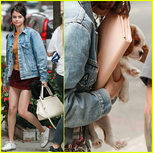 Selena Gomez Cradles New Puppy in Her Arms - See the Pics!