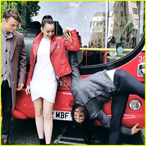 Sofia Carson, Booboo Stewart & Thomas Doherty Take Over London For 'Descendants 2' Promo
