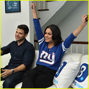 Vanessa Hudgens Roots for the Giants in Their Season Opener!