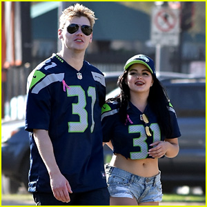 Ariel Winter Wears Matching Jerseys with Boyfriend Levi Meaden at Seahawks Game!