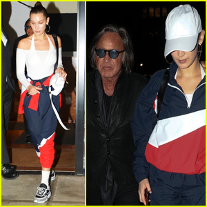 Bella Hadid Grabs Dinner with Her Dad in NYC