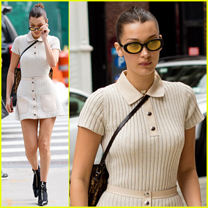 Bella Hadid Shows Us How to Rock a Sweater Dress!