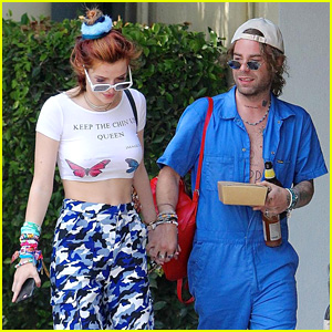 Bella Thorne & Mod Sun Hold Hands While Stepping Out for Lunch