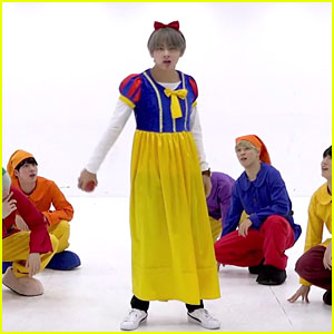 BTS Get Into the Halloween Spirit Dressed as Snow White & The Seven Dwarfs for Dance Practice - Watch Now!