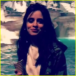 Camila Cabello Professes Her Love in Italian While Visiting the Trevi Fountain (Video)