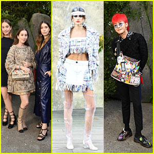 HAIM, Kaia Gerber & G-Dragon Look Stylish at Chanel Show During Paris Fashion Week!