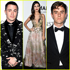 Colton Haynes, Victoria Justice, & Connor Franta Look Sharp at amfAR Gala 2017