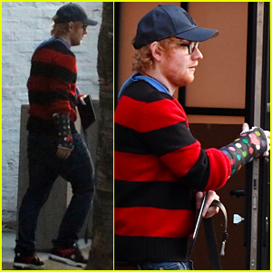 Ed Sheeran Gets Creative With His New Cast - See the Pics!