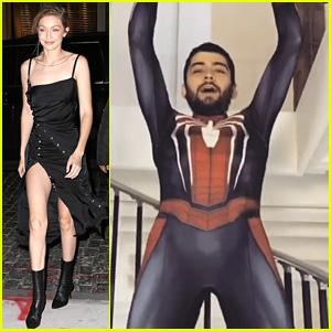 Gigi Hadid Shows Off Zayn Malik's Halloween Costume - Spider-Man!