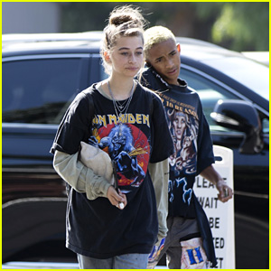 Jaden Smith & Odessa Adlon Couple Up for Low-Key Lunch