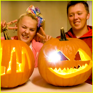Jojo Siwa Takes on Brother Jayden in Pumpkin Carving Contest!