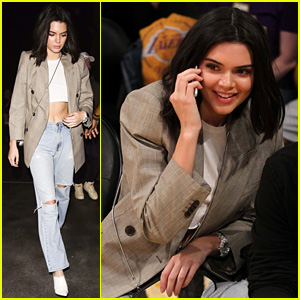 Kendall Jenner Keeps It Fall Chic at Blake Griffin's Basketball Game
