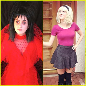 Laura Marano Debuts Two Costumes for Halloween 2017