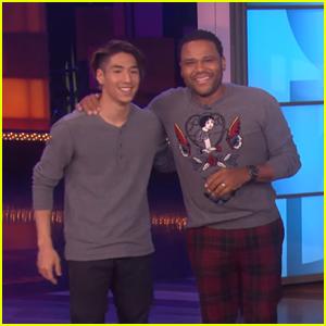 SYTYCD Winner Lex Ishimoto Has Break Dancing Dance-Off with Anthony Anderson on 'Ellen'