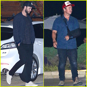 Liam & Luke Hemsworth Make It a Guys' Night in Malibu