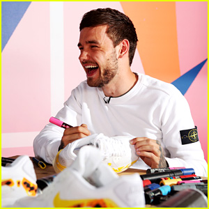 Liam Payne Gets Artsy With a Custom Shoe Design for a Fan!