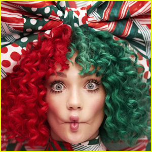 Maddie Ziegler Rocks Red & Green Hair For The Cover of Sia's Christmas Album