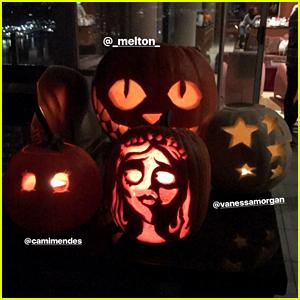 Lili Reinhart, Vanessa Morgan & 'Riverdale' Cast Have Pumpkin Carving Party
