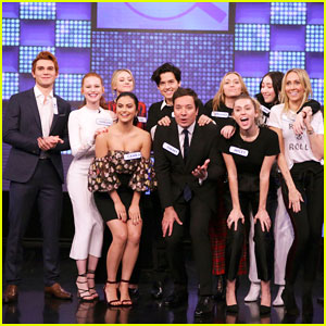 'Riverdale' Cast Team Up Against Miley Cyrus Family in 'Tonight Show' Game Show - Watch Here!