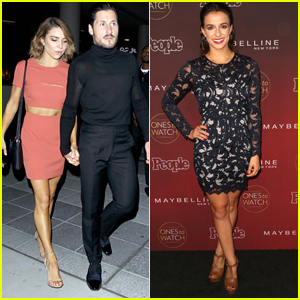 Jenna Johnson & Val Chmerkovskiy Step Out For People's Ones To Watch 2017 Party Together