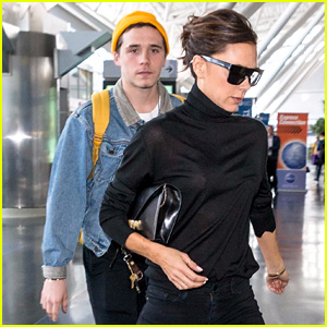 Brooklyn Beckham & Mom Victoria Catch Flight Out of NYC
