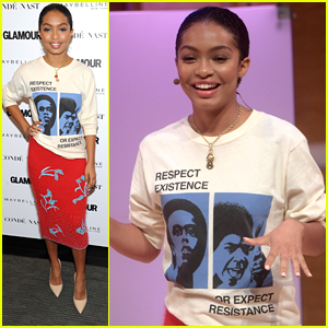 Yara Shahidi Speaks Out at Glamour's The Girl Project Event in NYC